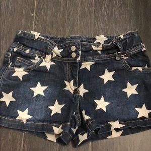 Girls Mini Boden jean shorts 9y